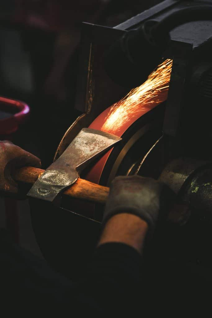 Sharpening an axe to make use of time